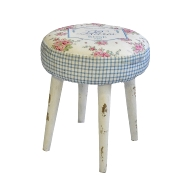 Hocker Paris rose 37x44cm