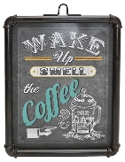 Schild Wake up 40x2.8x53cm