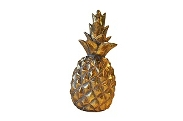 Ananas 12x25,8cm gold weiss