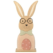 Hase m.Brille a.Sockel
